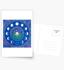Mondphase Mandala Postkarten
