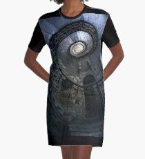 Forgotten Staircase Graphic T-Shirt Dress