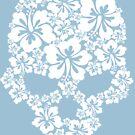 Hibiscus Skull by Stuart Stolzenberg