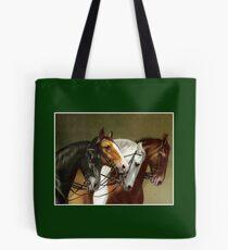 HORSE TEAM; Vintage German Painting Print Tote Bag