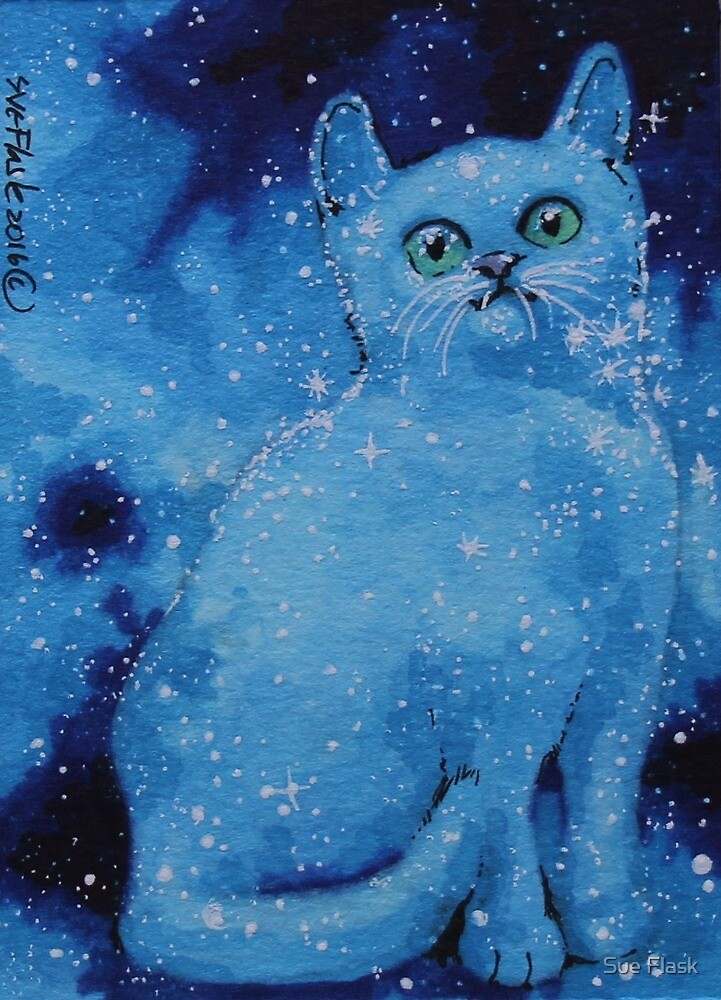 Starry Cat - 2016 by Sue Flask