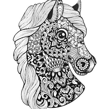 Pattern Horse by ladygabe