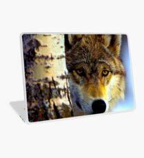 TIMBER WOLF; Vintage Wilderness Print Laptop Skin