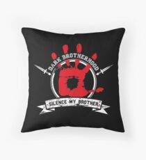 Dark Brotherhood - black Throw Pillow