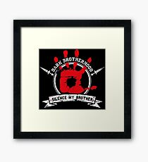 Dark Brotherhood - black Framed Print