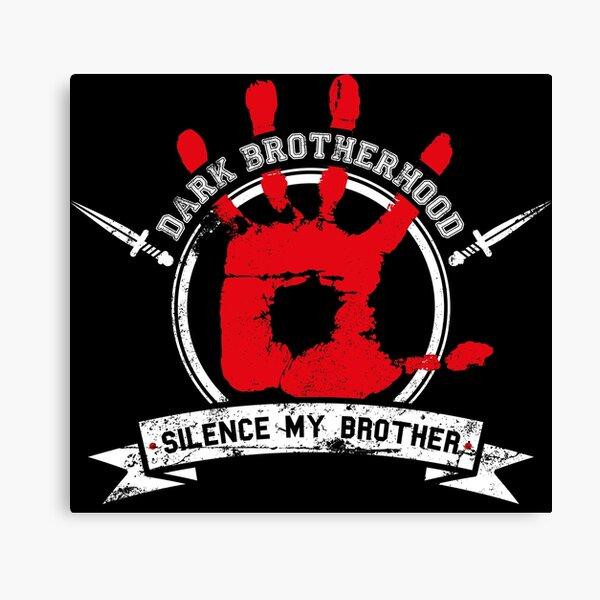 Dark Brotherhood - black Canvas Print