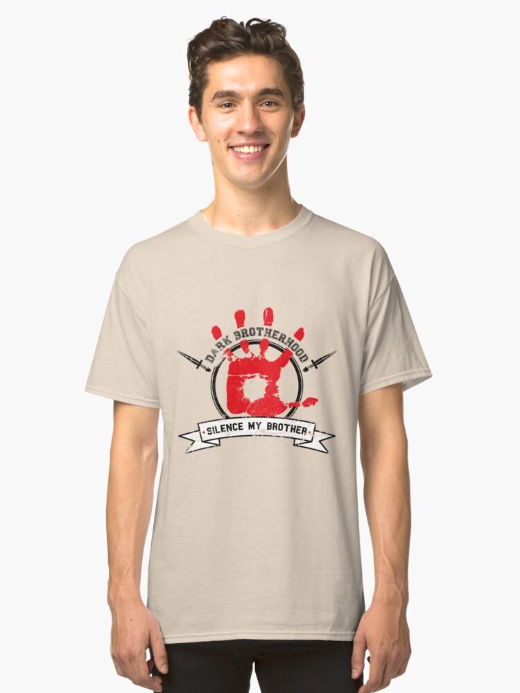 Dark Brotherhood - White Classic T-Shirt Front