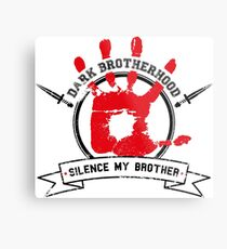Dark Brotherhood - White Metal Print