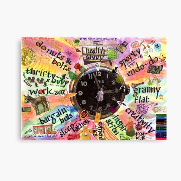 Tick tock, life o'clock  Canvas Print