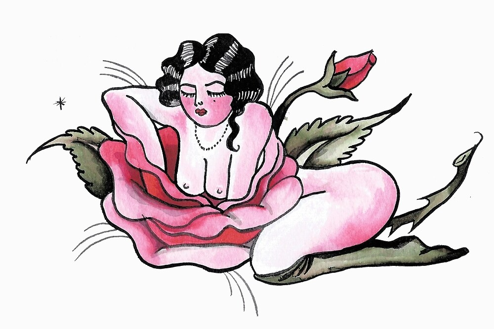 Lounging Rose by nikkivly