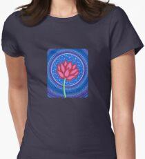 Splendid Lotus Flower Womens Fitted T-Shirt