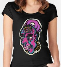Burnout - Black Background Version Women's Fitted Scoop T-Shirt