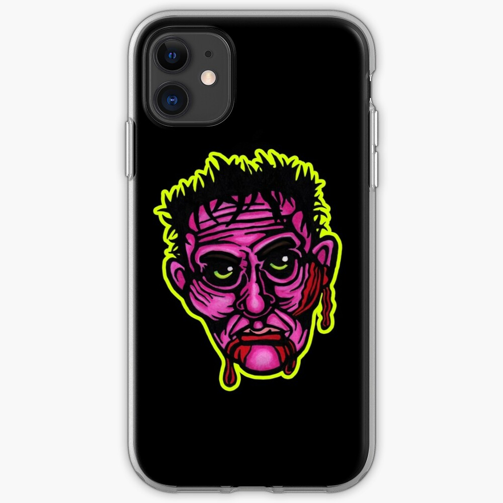 Pink Zombie - Die Cut Version iPhone Soft Case