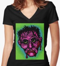 Pink Zombie Fitted V-Neck T-Shirt