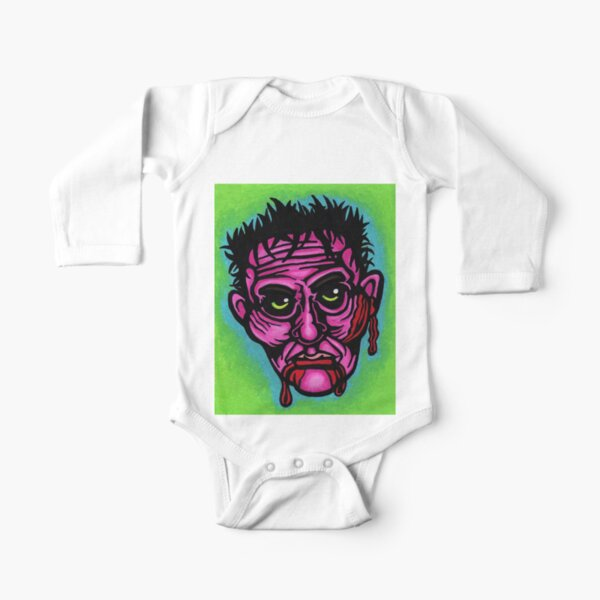 Pink Zombie Long Sleeve Baby One-Piece