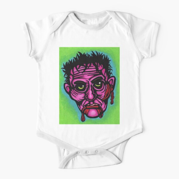Pink Zombie Short Sleeve Baby One-Piece