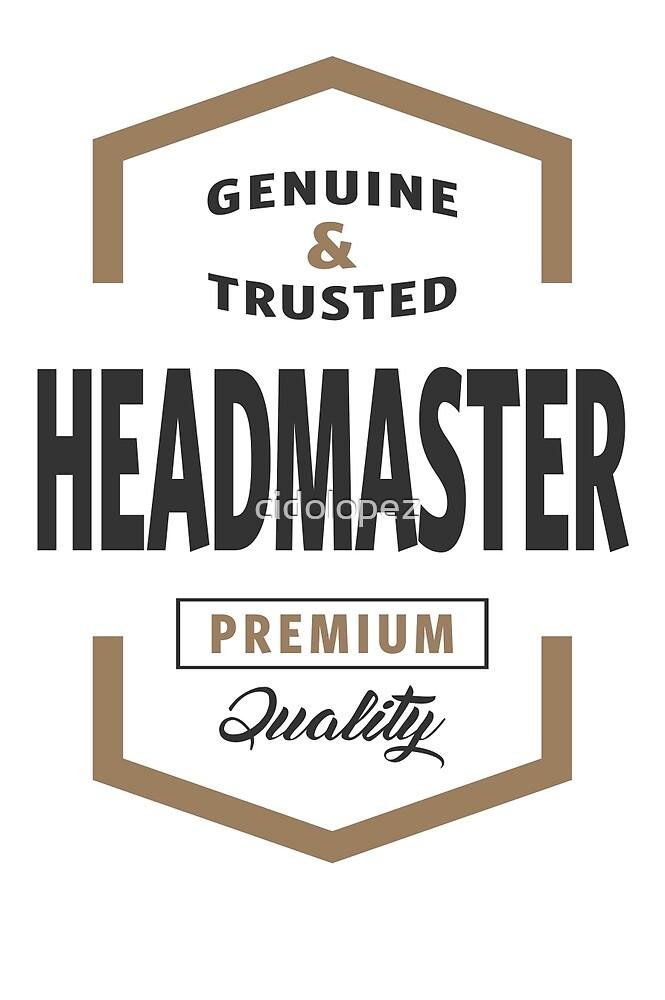 Headmaster Logo Gifts by cidolopez