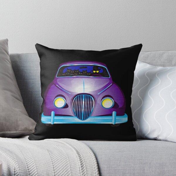 Carpool Cats Throw Pillow