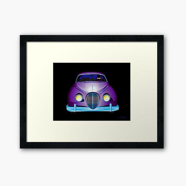 Carpool Cats Framed Art Print
