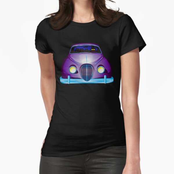 Carpool Cats Fitted T-Shirt