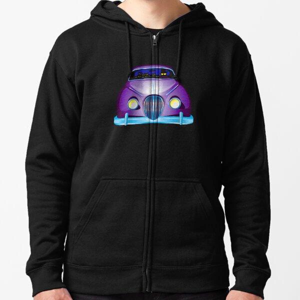 Carpool Cats Zipped Hoodie