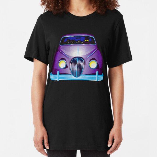 Carpool Cats Slim Fit T-Shirt