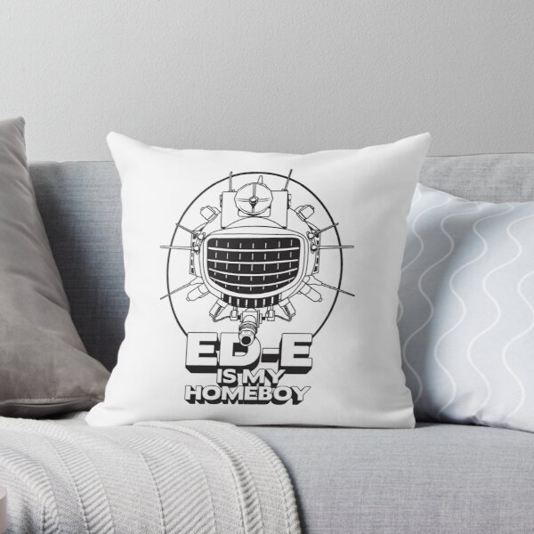 ED-E is My Homeboy on White Throw Pillow