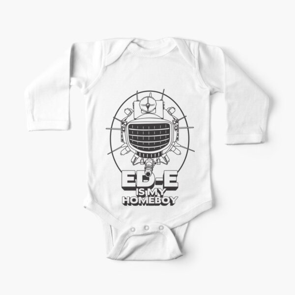 ED-E is My Homeboy on White Long Sleeve Baby One-Piece