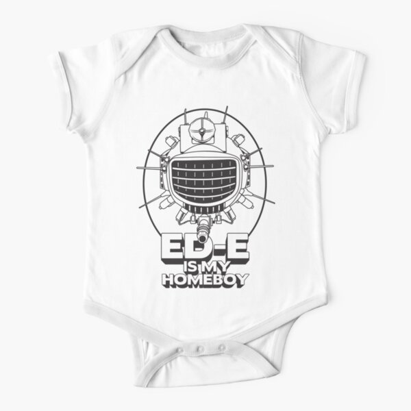 ED-E is My Homeboy on White Short Sleeve Baby One-Piece