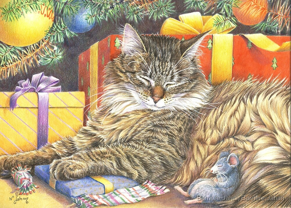 Christmas Peace for cats and mice by enjib