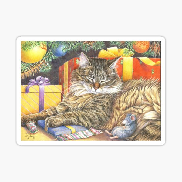 Christmas Peace for cats and mice Sticker