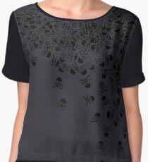 Noctis' Skull and Crossbones Shirt Chiffon Top