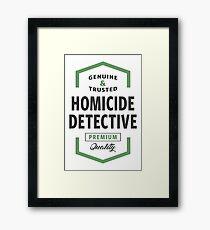 Homicide Detective Logo Gifts Framed Print
