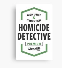 Homicide Detective Logo Gifts Canvas Print