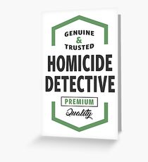 Homicide Detective Logo Gifts Greeting Card