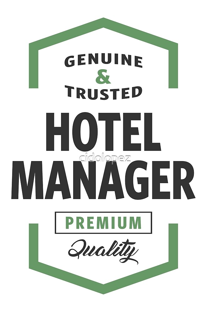 Hotel Manager Logo Gifts by cidolopez