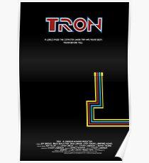 Tron 1982 - minimalista, alternativo, ciencia ficcion,  Poster