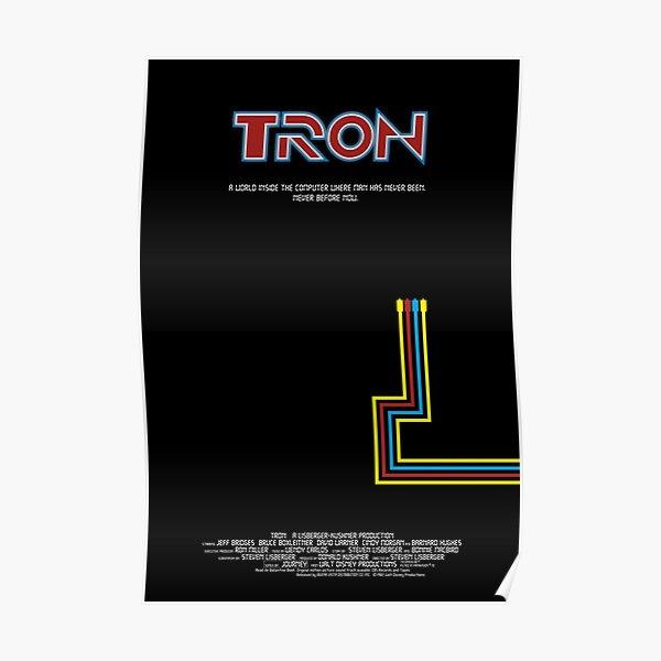 Tron 1982 - minimalista, alternativo, ciencia ficcion,  Póster