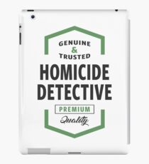 Homicide Detective Logo Gifts iPad Case/Skin