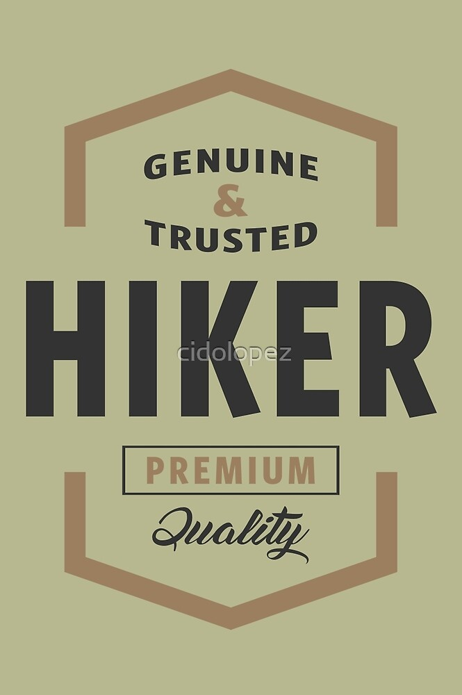 Hiker Logo Gifts by cidolopez