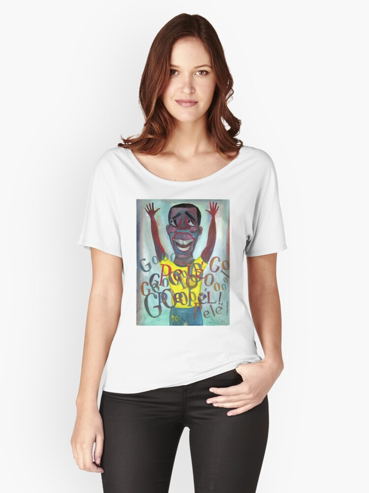 Futebol Brasil! soccer idol Women's Relaxed Fit T-Shirt Front