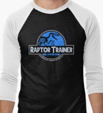 Camiseta ¾ bicolor para hombre Jurassic World Raptor Trainer