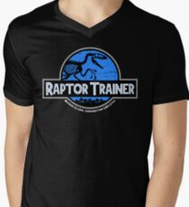 Jurassic World Raptor Trainer Men's V-Neck T-Shirt