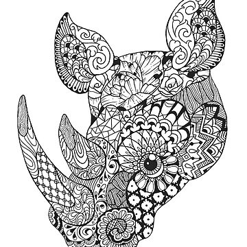 Pattern Rhino by ladygabe
