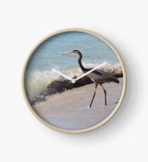 Beach Heron Clock