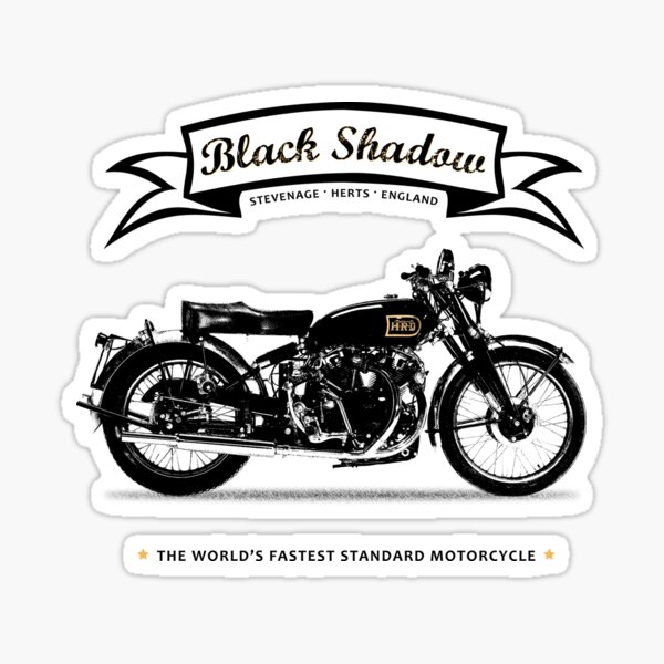 VINCENT MOTORCYCLES GARAGE GAS STATION VINYL STICKER DECAL Ariel Indian