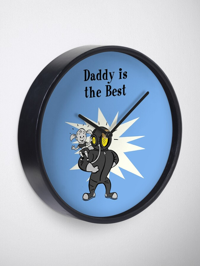 Alternate view of BioShock – Daddy is the Best Poster (Black) Clock