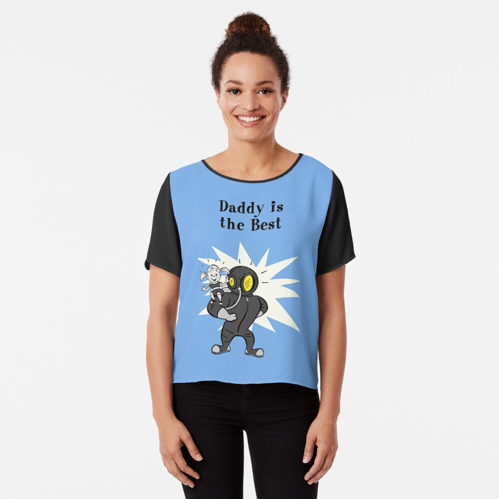 BioShock – Daddy is the Best Poster (Black) Chiffon Top