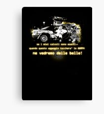 Back to the future ...with quote in italian Canvas Print