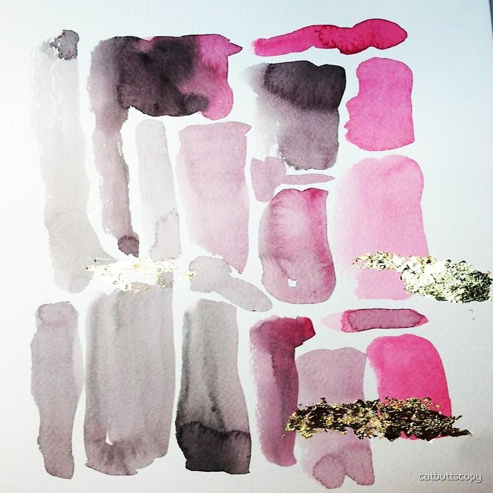 Black Pink Print by Ana Araujo